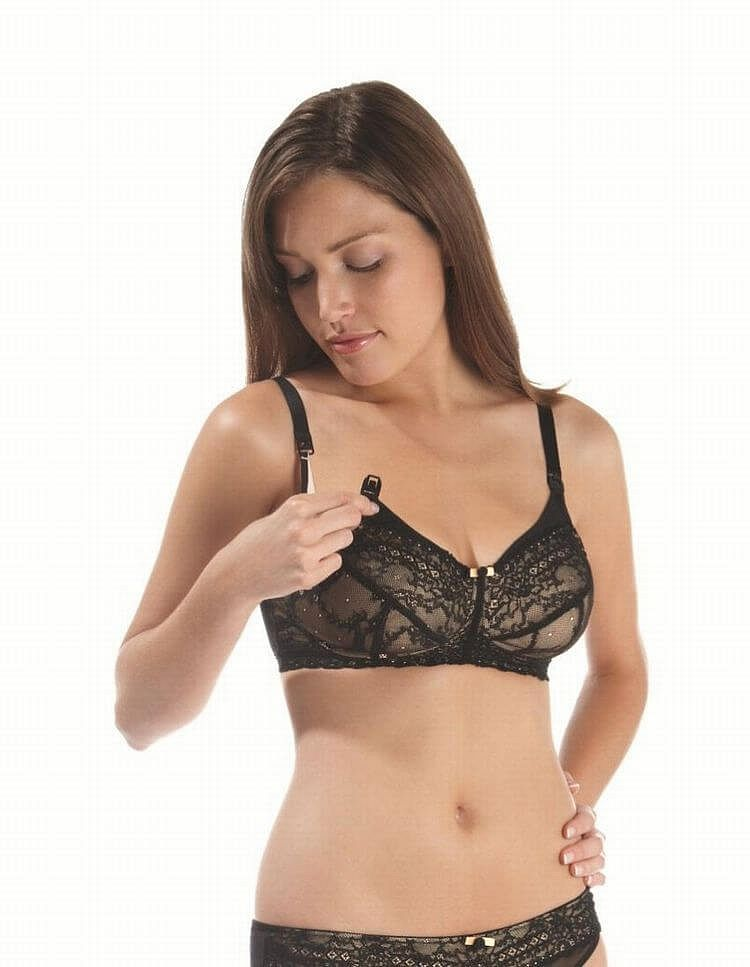 ab860d4f52 Panache Black and Nude Sophie Nursing Bra £24.99 - Panache Maternity  Nursing Bras - FREE UK Delivery