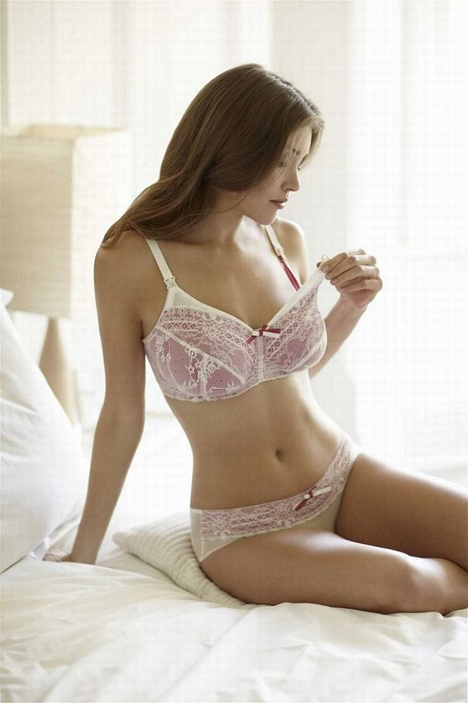 Panache Nursing Bra Ivory And Candy Pink Sophie