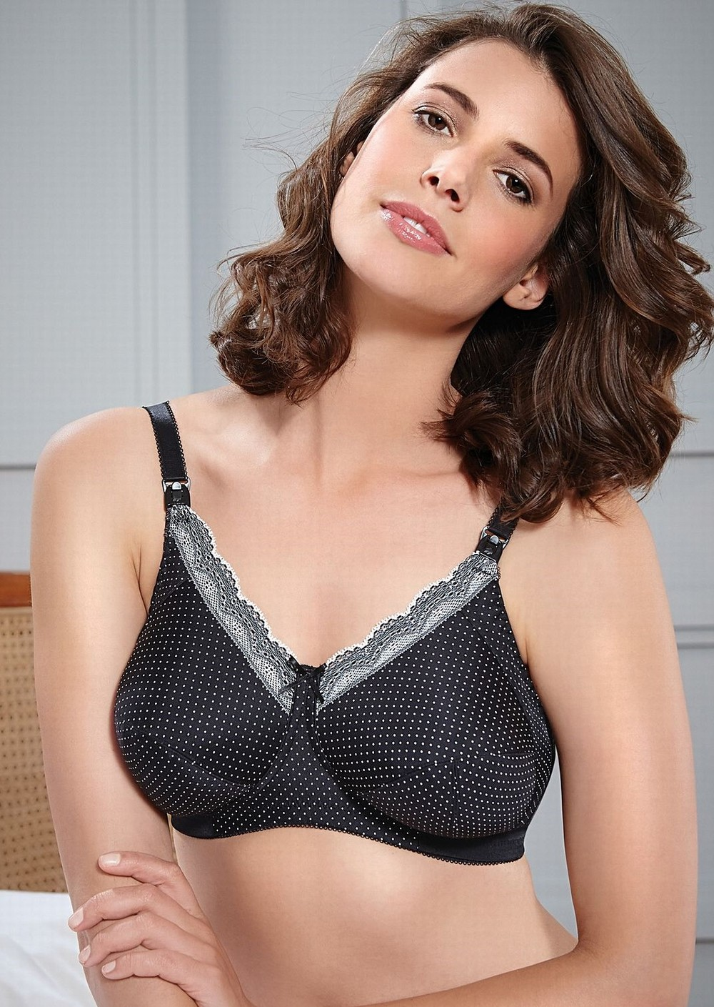 be994baededf1 Royce Ava Nursing Bra - Black and Cream Spot